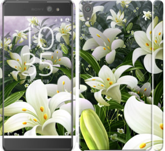 Чехол на Sony Xperia XA Ultra Dual F3212 Белые лилии