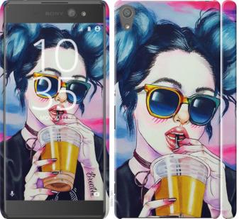 Чехол на Sony Xperia XA Ultra Dual F3212 Арт-девушка в очках
