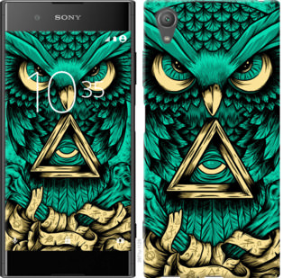 Чехол на Sony Xperia XA1 Plus G3412 Сова Арт-тату