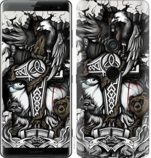 Чехол на Sony Xperia XZ3 H9436 Тату Викинг