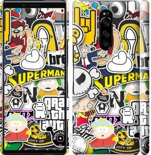Чехол на Sony Xperia 1 J9110 Popular logos