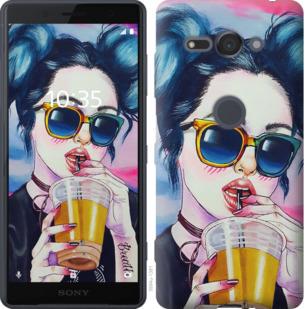 Чехол на Sony Xperia XZ2 Compact H8324 Арт-девушка в очках