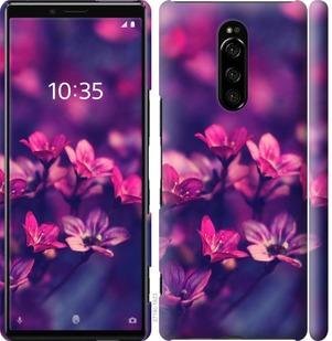 Чехол на Sony Xperia 1 J9110 Пурпурные цветы