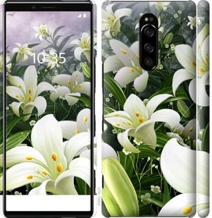 Чехол на Sony Xperia XZ4 Белые лилии