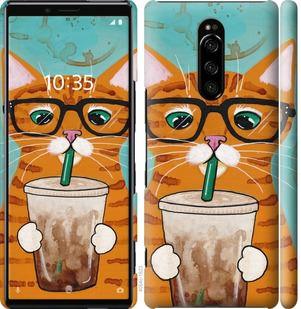 Чехол на Sony Xperia 1 J9110 Зеленоглазый кот в очках