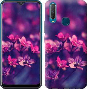Чехол на Vivo Y17 Пурпурные цветы