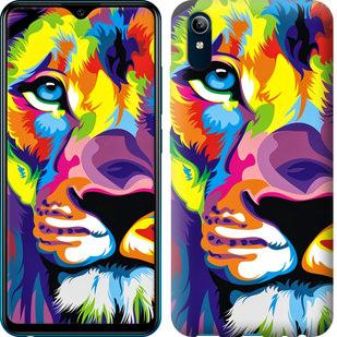 Чехол на Vivo Y91C Разноцветный лев