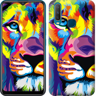 Чехол на Vivo Y17 Разноцветный лев