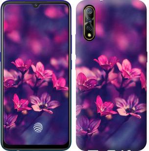 Чехол на Vivo V17 Neo Пурпурные цветы