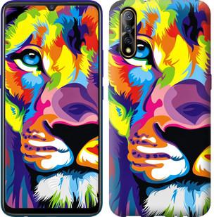 Чехол на Vivo V17 Neo Разноцветный лев