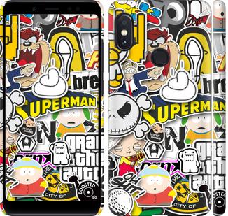 Чехол на Xiaomi Redmi Note 5 Pro Popular logos
