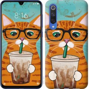 Чехол на Xiaomi Mi 9 SE Зеленоглазый кот в очках
