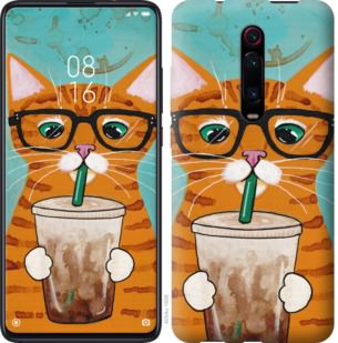 Чехол на Xiaomi Mi 9T Pro (K20 Pro) Зеленоглазый кот в очках