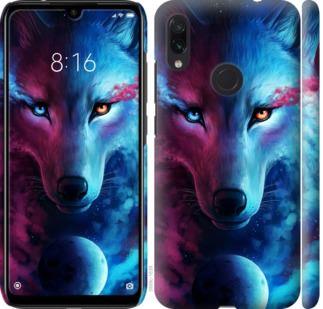 Чехол на Xiaomi Redmi Note 7 Арт-волк