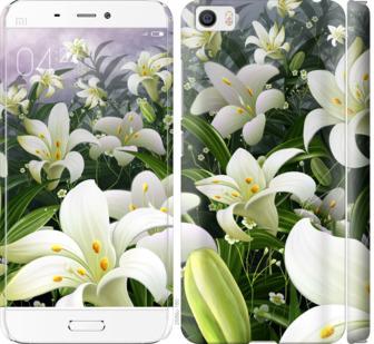Чехол на Xiaomi Mi5 Белые лилии