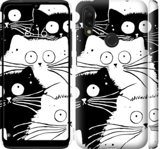 Чехол на Xiaomi Redmi 7 Коты v2