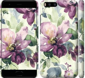 Чехол на Xiaomi Mi6 Цветы акварелью