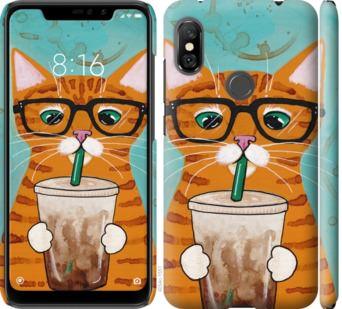 Чехол на Xiaomi Redmi Note 6 Pro Зеленоглазый кот в очках