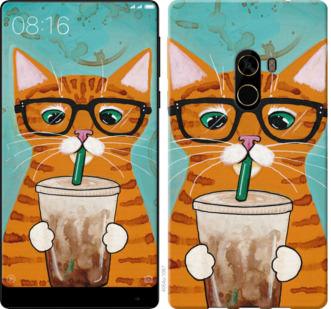 Чехол на Xiaomi Mi MiX 2 Зеленоглазый кот в очках