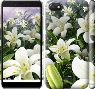 Чехол на Xiaomi Redmi 6A Белые лилии