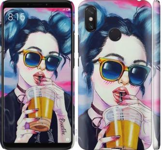 Чехол на Xiaomi Mi Max 3 Арт-девушка в очках