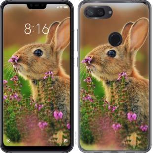 Чехол на Xiaomi Mi 8 Lite Кролик и цветы