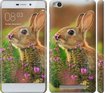 Чехол на Xiaomi Redmi 3 Кролик и цветы