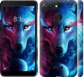 Чехол на Xiaomi Redmi 6 Арт-волк