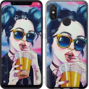 Чехол на Xiaomi Mi8 Арт-девушка в очках
