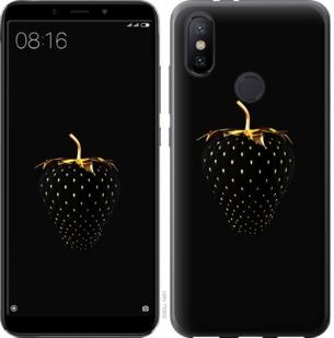 Чехол на Xiaomi Mi A2 Черная клубника