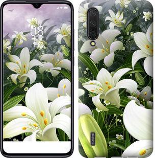 Чехол на Xiaomi Mi CC9 Белые лилии