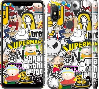 Чехол на Xiaomi Redmi Note 6 Pro Popular logos