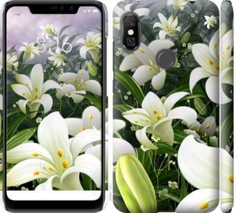 Чехол на Xiaomi Redmi Note 6 Pro Белые лилии