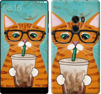Чехол на Xiaomi Mi MiX Зеленоглазый кот в очках