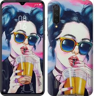 Чехол на Xiaomi Mi CC9 Арт-девушка в очках