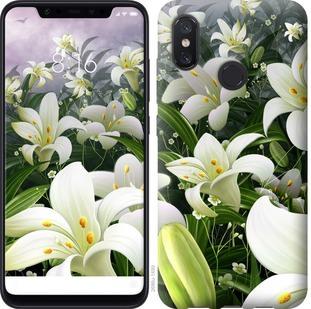 Чехол на Xiaomi Mi8 Белые лилии