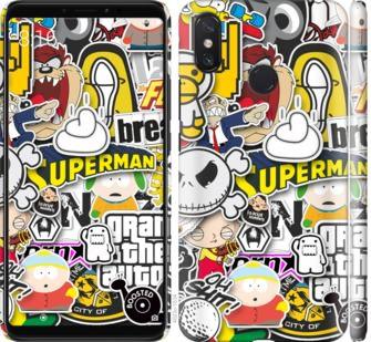 Чехол на Xiaomi Mi Max 3 Popular logos