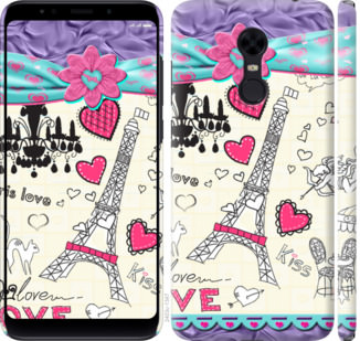 Чехол на Xiaomi Redmi 5 Plus Париж 45