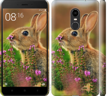 Чехол на Xiaomi Redmi Note 4X Кролик и цветы