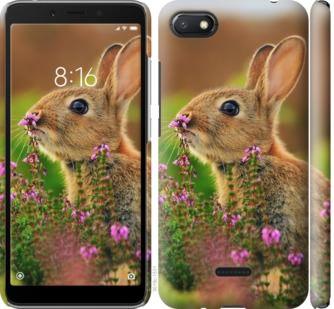 Чехол на Xiaomi Redmi 6A Кролик и цветы
