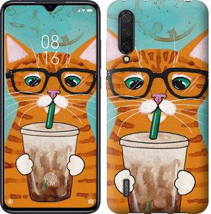 Чехол на Xiaomi Mi CC9 Зеленоглазый кот в очках
