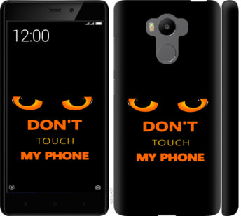 Чехол на Xiaomi Redmi 4 pro Dont touch the phone