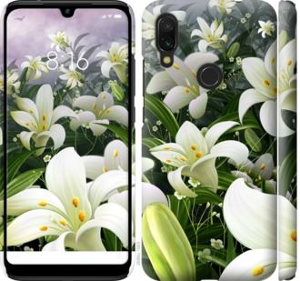 Чехол на Xiaomi Redmi 7 Белые лилии