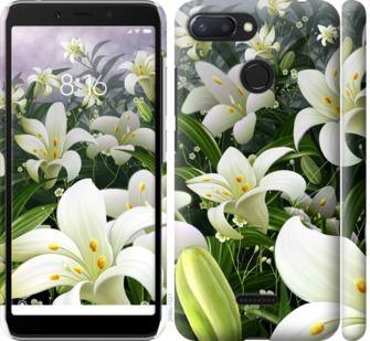 Чехол на Xiaomi Redmi 6 Белые лилии