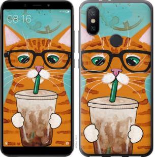 Чехол на Xiaomi Mi A2 Зеленоглазый кот в очках