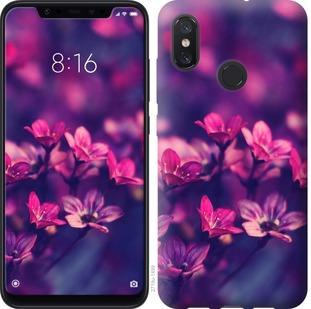 Чехол на Xiaomi Mi8 Пурпурные цветы