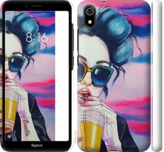 Чехол на Xiaomi Redmi 7A Арт-девушка в очках