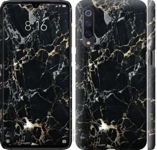 Чехол на Xiaomi Mi A3 Черный мрамор