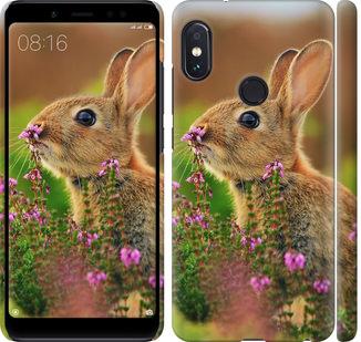 Чехол на Xiaomi Redmi Note 5 Кролик и цветы