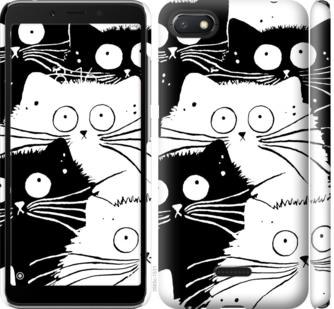 Чехол на Xiaomi Redmi 6A Коты v2